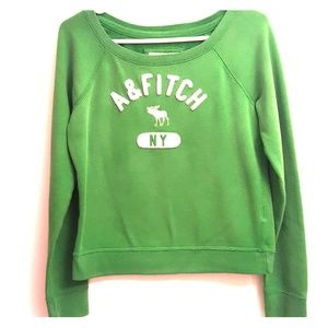 Green Abercrombie and Fitch sweatshirt in small